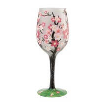 """Cherry Blossom """"Designs by Lolita"""" Wine Glass 15 o.z. 9"""" High  Gift Boxed image 2"""