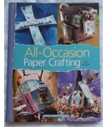 All-Occasion Paper Crafting 2005 hardcover spiral bound book house white... - $13.35