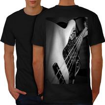 Bass Guitar Jazz Music Shirt Instrument Men T-shirt Back - $12.99+
