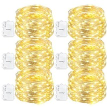 Oak Leaf 60-LED Fairy Lights,6-Pack Battery Operated String Lights,Warm ... - $31.81