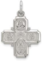 4-Way Cruciform Cross Charm In 925  37x20mm - $59.70