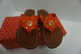 Womens tory burch slippers breely patent thong size 7.5 us - $197.95