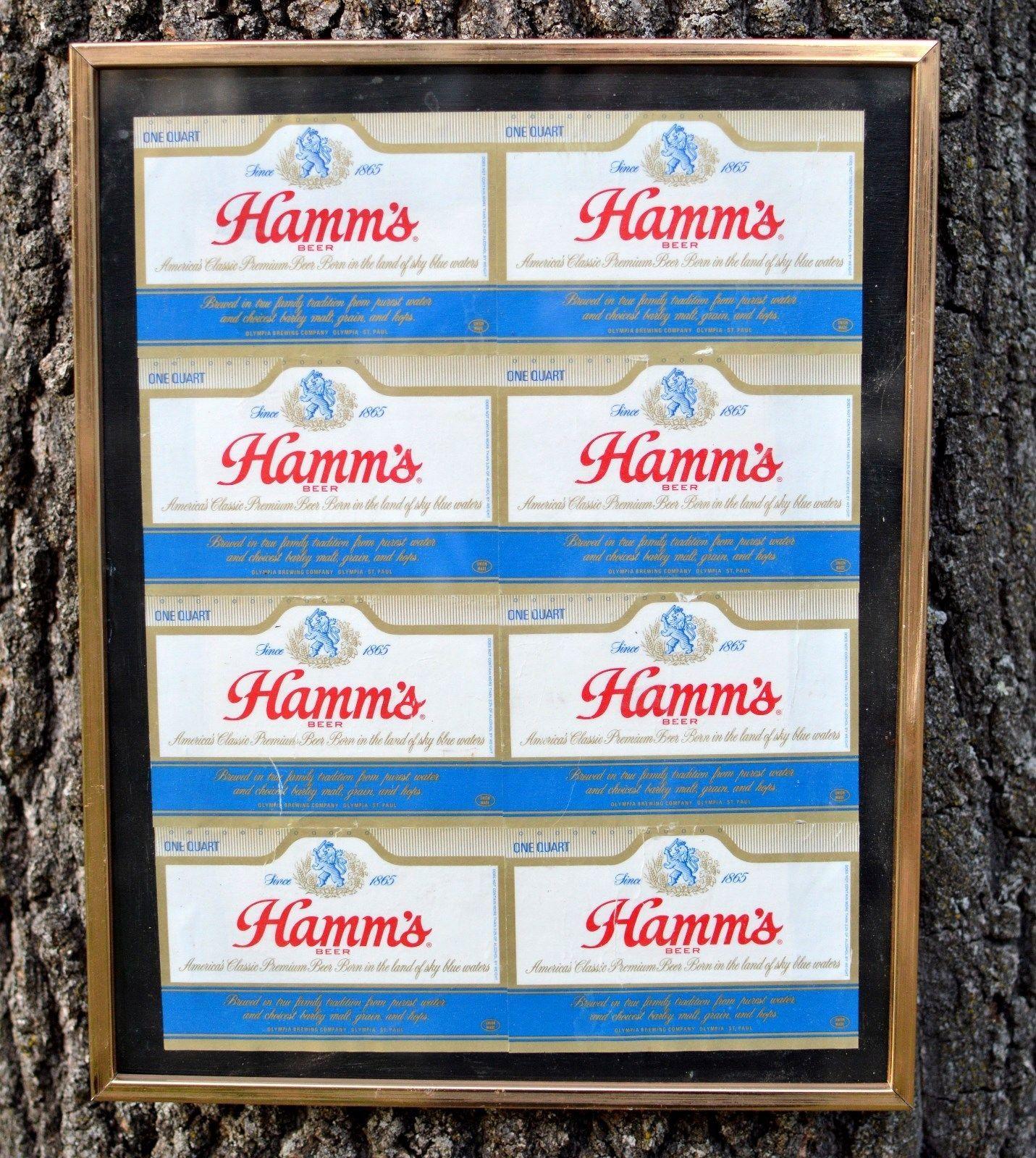 Hamm/'s Sky Blue Waters Logo Distressed Advertising Retro Vintage Metal Tin Sign