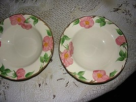 English Franciscan Soup Bowls Desert Rose [Two] - $17.82