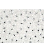 Black Spiders on Sparkly White 28ct Linen 17x19 cross stitch fabric Fabr... - $24.30