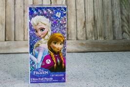 "Disney Frozen ELSA AND ANNA Ultra Foil Jigsaw Puzzle 48 pieces 15"" x 11.2"" NIB - $11.99"