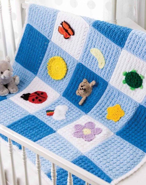 Primary image for Z431 Crochet PATTERN ONLY Playtime Baby Blanket Afghan Throw Pattern