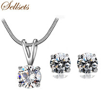 African Silver Color Nigerian Wedding African Beads Jewelry Set Crystal ... - $20.81