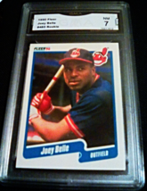 1990 Fleer Joey Albert Belle GMA Graded 7 NM baseball card number 485 Rookie - $7.75