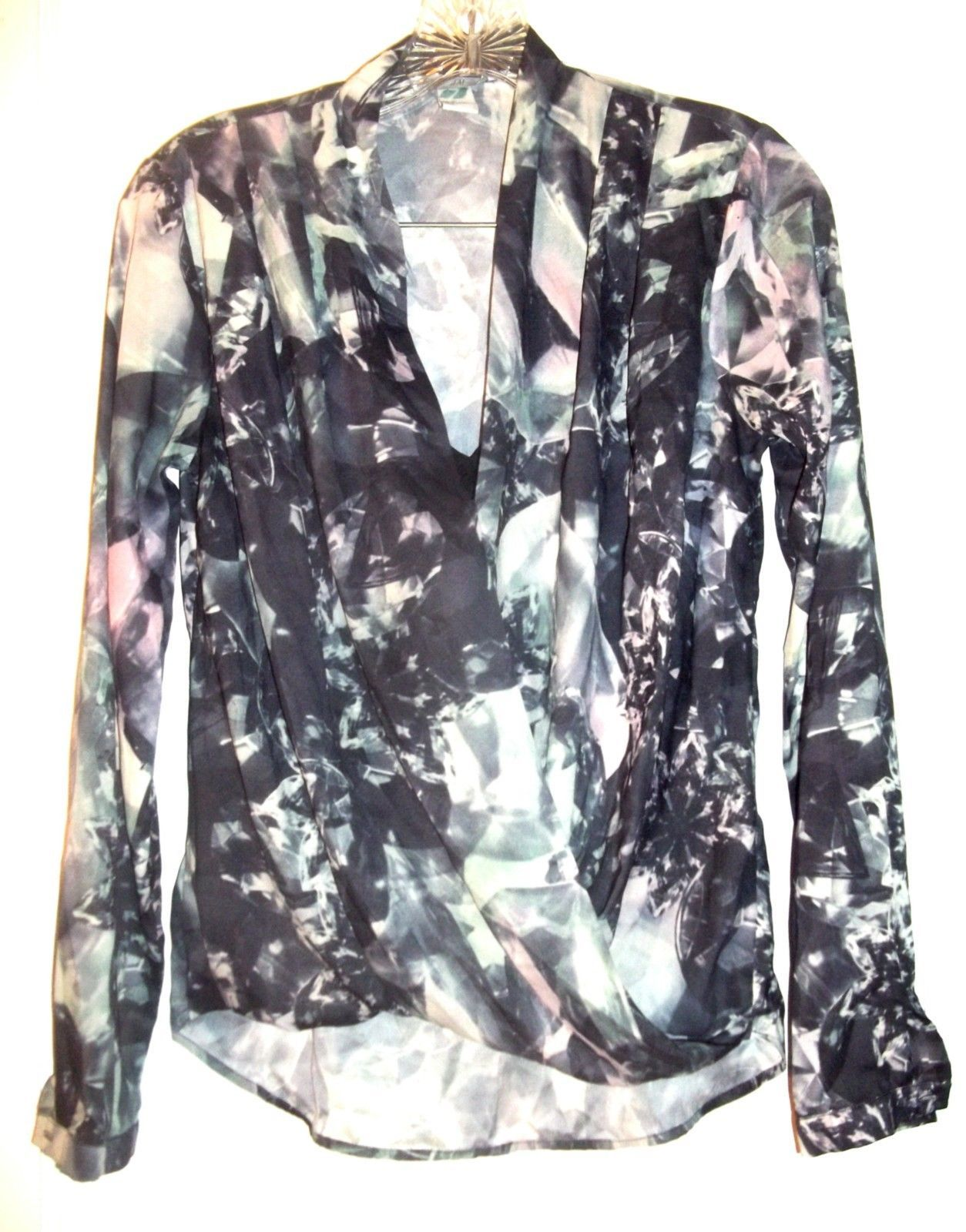 Size 6 - H&M Black & Gray Double Top w/attached Sheer Black Insert - $23.74