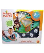 Bright Starts Giggle Safari Baby Prop Mat Tummy Time Monkey Jungle Play ... - $13.59