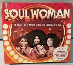 Soul Woman 80 Timeless Classics From The Queens Of Soul 4 CD Album - $10.49