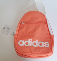 Adidas Core Mini Backpack Light Orange Color White New Mens Womens - $32.66