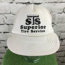 Superior Tire Service Vintage SnapBack Trucker Hat White Mesh - $17.82