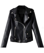 Handmade Women  Black Cow  Leather Casual  Partywear Jacket - $165.99+