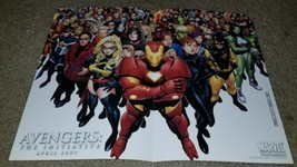 Marvel Comics Avengers Initiative 1 NM Poster 4/2007 Iron Man Ms. Marvel... - $0.99