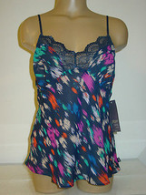 Women's Gilligan O'Malley blue semi sheer cami tank top-M-NWT-$25 - $10.36