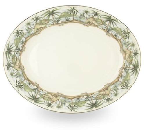 Lenox British Colonial Gold Banded Bone China 16-Inch Oval Platter