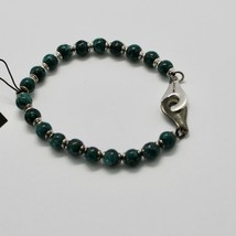 Silver 925 Bracelet with Green Jasper BSP-2 Made in Italy by Maschia - $100.04