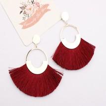 Bohemian Big Drop Tassel Earrings Women Lady Female Fringe Handmade Dang... - $6.71