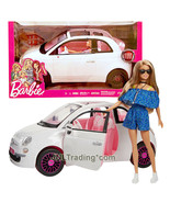 Year 2018 Barbie Fashionistas Doll Set TERESA FVR07 in Romper with Fiat 500 Car - $89.99