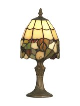 "13"" Antique Brass Motif Tiffany Grape Hand Crafted Glass Accent Lamp - $108.89"