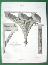ARCHITECTURE PRINT : Cologne High School Ornamental Ceiling Timber - $12.60