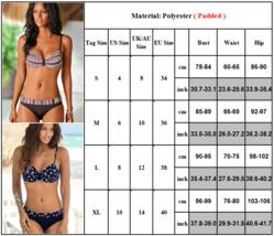 Women Boho Push Up Bra Bikini Set Summer Swimsuit Swimwear image 4