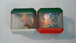 2 Fisher Price Peek a Blocks Carousel & Candle with Mice Finger Spinners... - $6.79