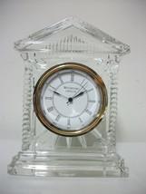 Waterford Crystal Mantel Quartz Clock Silvertone & Goldtone Face - $29.99