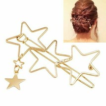 Women Tassel Hairpin Hair Clips Hollow Five-Pointed Stars Party Accessor... - $7.91
