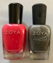 Lot of 2: NEW Zoya Professional Nail Lacquer Polish SONJA & LONDON (Pixi... - $17.81