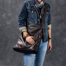 Sale, Full Grain Leather Men Shoulder Bag, Stylish Men Messenger Bag, Laptop Bag image 4