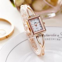 JW Brand Luxury Crystal Rose Gold Watches Women Fashion Bracelet Quartz ... - $29.40