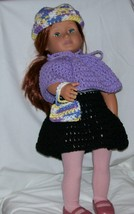 American Girl 3 Piece Purple Outfit, Handmade Crochet, 18 Inch Doll - $15.00