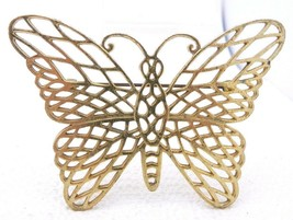 Vintage Gold Tone PL Signed Large Butterfly Filigree Pin Brooch - $29.70