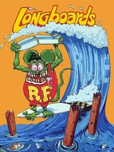 Longboards Rule Rat Fink Surfer Big Daddy Ed Roth Metal Sign - $34.95
