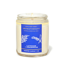 Bath And Body Works Aromatherapy Relax Lavender Cedarwood 1 Wick Candle ... - $19.79