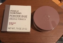 01149 MERLE NORMAN ROSE GLO  POWDER Based Protective Makeup NIB .75 Oz - $29.70