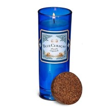 Blue Curacao Highball Scented Jar Candles 33 Hours Burn Time Cork Lid - $15.67