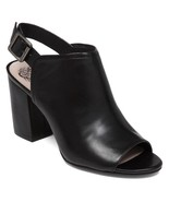 Vince Camuto Brianny Slingback Block Heel Shootie, Size 11 Black VC-BRIANNY - $79.96