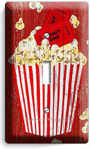 Pop Corn Tv Room Home Movie Theater Rustic 1 Gang Light Switch Wall Plates Decor - $8.99