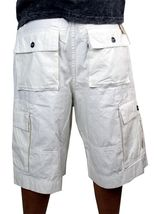 Levi's Men's Premium Cotton Cargo Shorts With Belt Relaxed Fit White 13581-0009 image 4