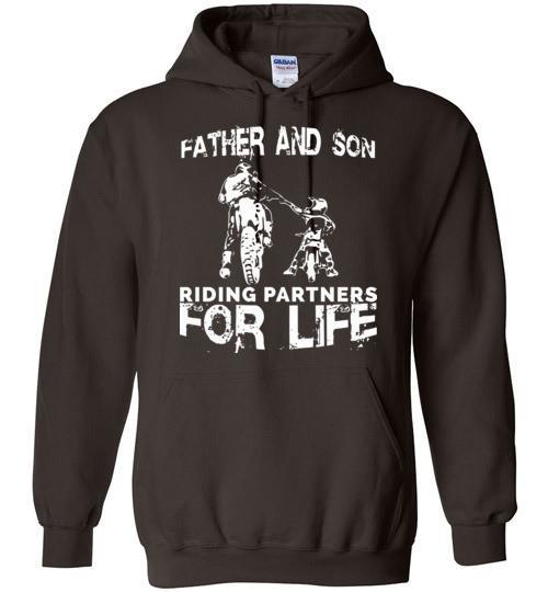 Father And Son Riding Partners For Life Blend Hoodie