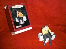 VINTAGE 1995 HALLMARK STAR TREK CAPTAIN JAMES T KIRK CHRISTMAS ORNAMENT ... - $25.99