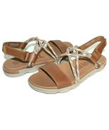 ✿ SOREL Torpeda Tan Camel Premium Leather Slingback Slide Sandals 7 W NE... - $61.74