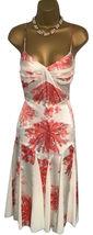 BNWT STUNNING DESIGNER AMANDA WAKELEY Ivory & Peach Silk DRESS  UK 8 US ... - $118.45