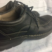 Clarks Mens Black Leather Bicycle Shoes Oxford Lace Up Casual Sneaker Size 8 M - $23.52