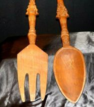 Decorative Wooden Spoon and Fork AA19-1596 Vintage Very Large image 3