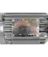 TECO Electric Motor 1/2 HP Shaft keyway 3 Bolt Mounting - £218.16 GBP